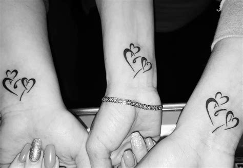three hearts tattoo designs lovely design tattoos