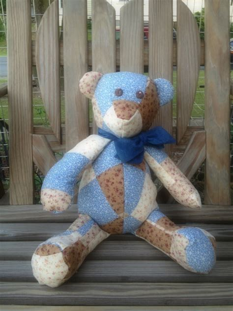 How To Make A Patchwork Teddy - handmade patchwork teddy on luulla