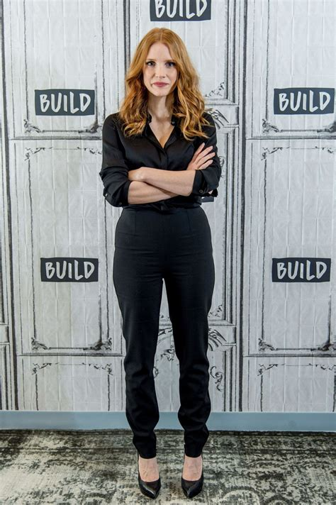 jessica york jessica chastain at aol build speaker series in new york