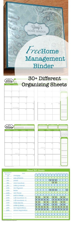 printable home organization binder free home management binder printables for the home