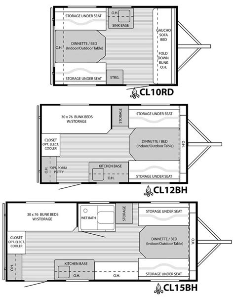 trailer floor plans clite travel trailer floorplans large picture