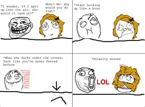 Meme Le - troll freak trolling in bed