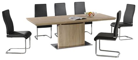 modern wooden extending dining table and 6 chairs homegenies