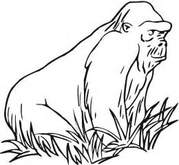 gorilla coloring pages free gorilla coloring pages