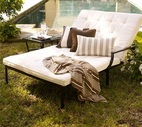 pottery barn chaise cushion pottery barn riviera double chaise cushion