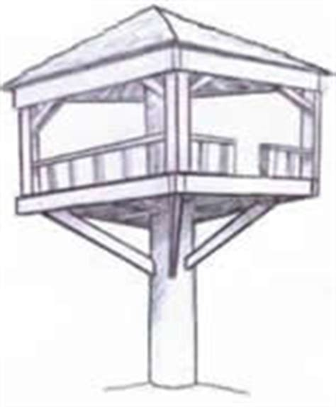 treeless tree house plans how to build a tree house 10 free plans plans 1 8