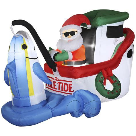 blow up santa in a boat christmas gifts for weird people the official 2014 guide