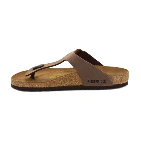 slip on sandals for birkenstock gizeh womens slip on leather sandals brown