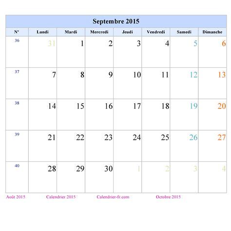 Calendrier à Imprimer Septembre 2015 Calendrier Septembre 2015 224 Imprimer Gratuit En Pdf Et Excel