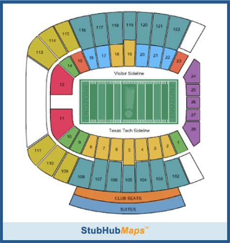 texas tech football seating map texas tech football jones at t stadium espn