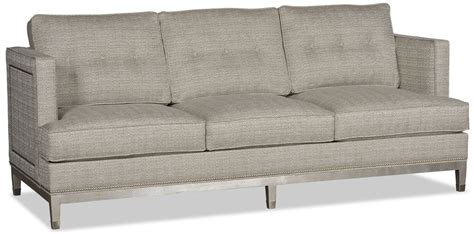 Grey Retro Sofa With Chic Nailhead Trim Gray Nailhead Sofa