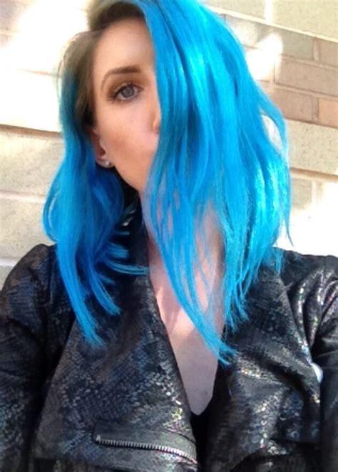 pravana blue hair color pravana neon blue and blue chromasilk vivids in