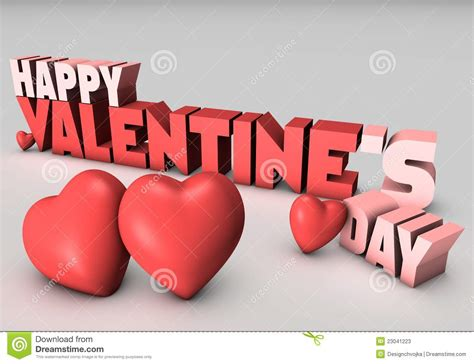 happy valentines day images 3d happy valentines day 3d stock photos image 23041223