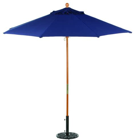 Outdoor Patio Umbrellas Sunbrella 9 Sunbrella Market Umbrella In Navy Modern Outdoor Umbrellas By Modern Furniture Warehouse