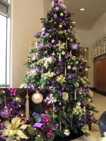 purple and gold christmas tree christmas pinterest