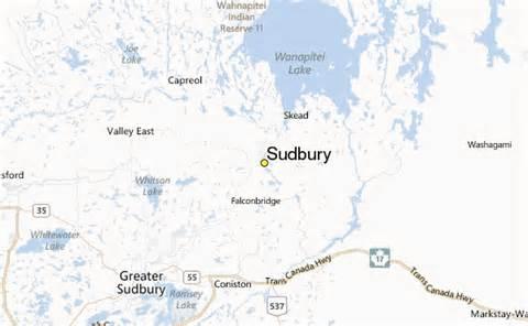 sudbury canada map sudbury weather station record historical weather for