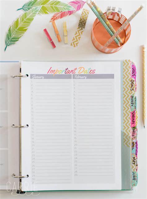 life organizer planner printable printable planner life organizer carrie elle