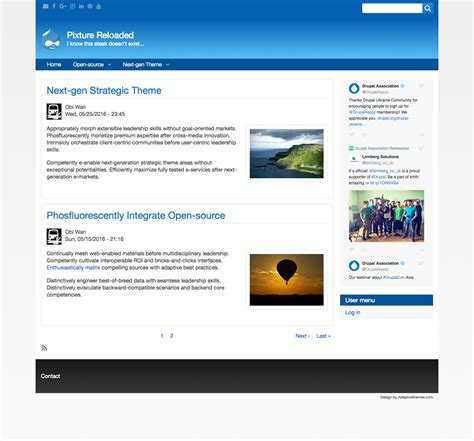 download themes drupal 7 free pixture reloaded drupal free themes