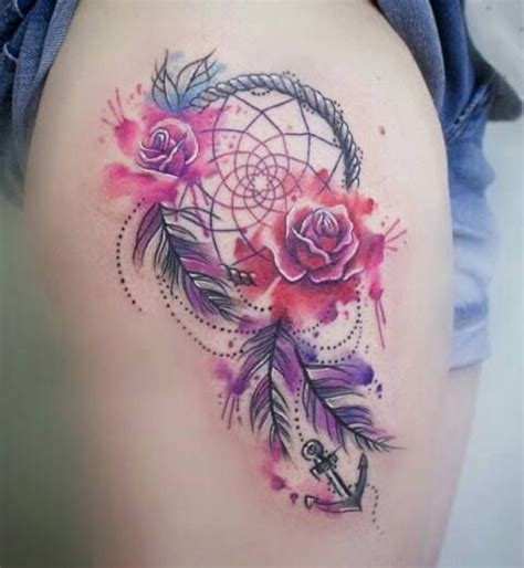 rose dreamcatcher tattoo 1000 ideas about tattoos on