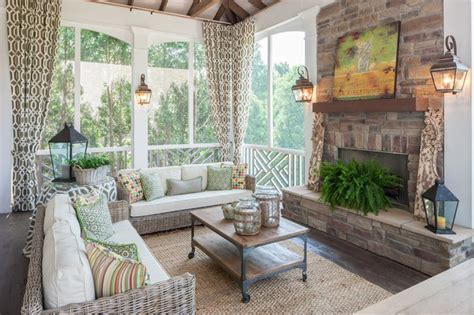 Screened In Porch With Fireplace by Screened Porch With Fireplace A Welcoming Back Of