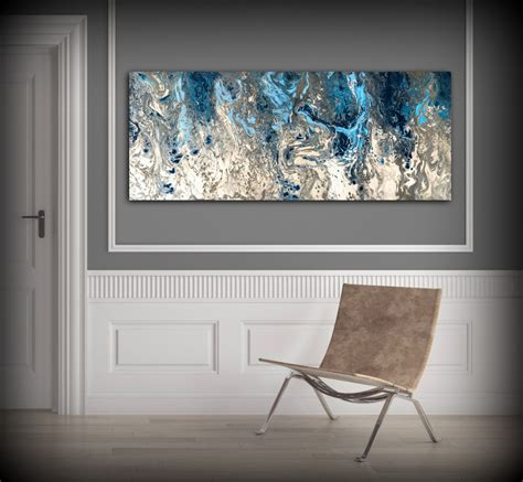 Decor Painting by Large Abstract Painting Print Navy Blue Print Art Large