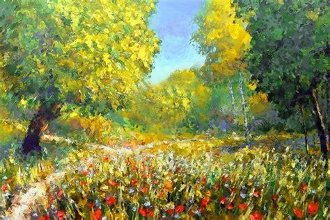 spring paint spring walk painting by georgiana romanovna