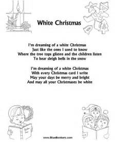 song with name free white carol and song sheet on