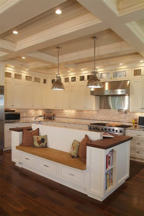 built in kitchen islands with seating built in bench seat kitchen kitchen transitional with wood