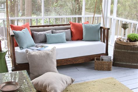 swing bed cushions magnificent porch swing cushions in porch traditional with