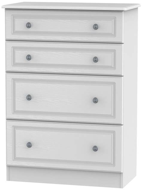 White Chest Of Drawers by Welcome Pembroke White Chest Of Drawer Pembroke 4 Drawer