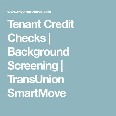 transunion background check best 25 tenant credit check ideas on