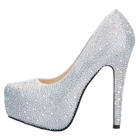 high heel shoes beautiful sparkling 5 5 inches high heel platform wedding