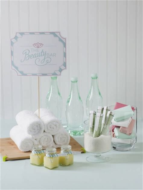 ideas for a pantry bridal shower theme spa themed bridal shower ideas