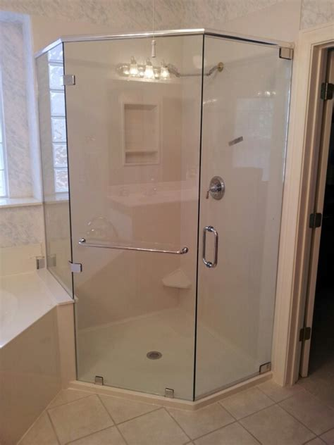 Custom Shower Glass Doors Frameless Custom Neo Frameless Shower For Rebath Of Pimp My Bathroom Discover More