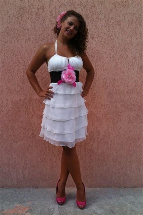 white dresses pink bershka shoes black jazz belts pink