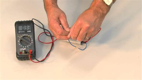 how to test a capacitor using a digital multimeter capacitor test