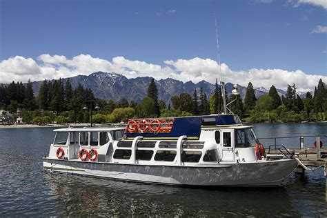 boat tour queenstown sightseeing boat queenstown new zealand photograph by
