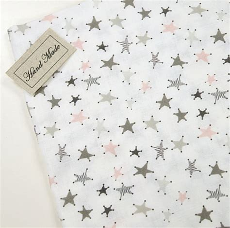 patterned gauze fabric double gauze mini star patterned fabric made in korea by the