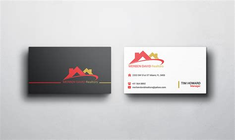 business card design design for merben david a company in