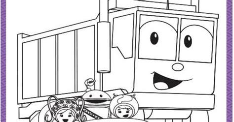 umicar dump truck printable coloring page teamumizoomi