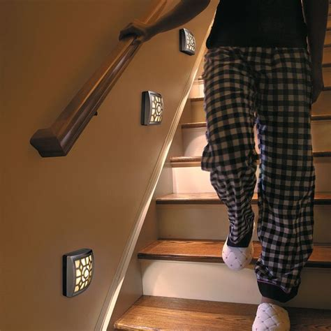 motion activated stair lights soft glow led motion sensor light lighting staircases