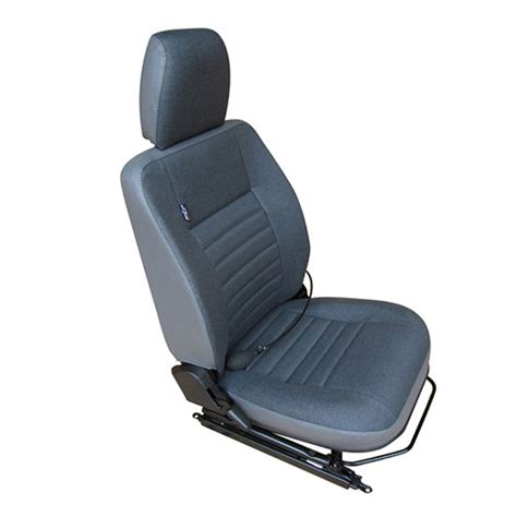 cer reclining seats front outer seat in denim twill vinyl right for land
