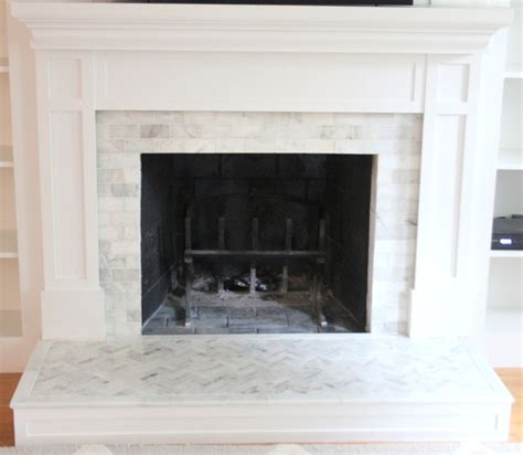 tile fireplace makeover how to tile a hearth our fireplace makeover shine your