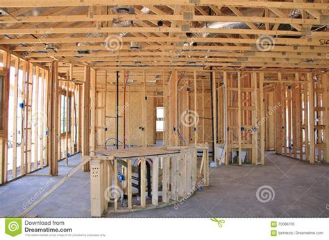 interior of new home construction stock image image