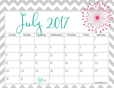 free 2017 calendar for you to print keeping sane