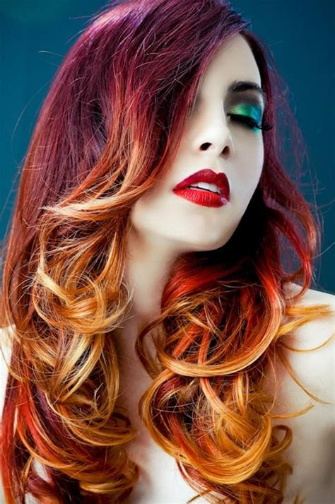 red  blonde hair color ideas hair styles pinterest