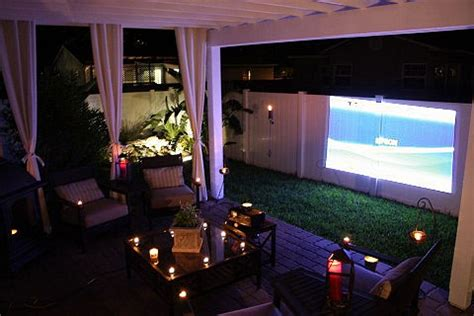 backyard movie projectors backyard date night projector people news