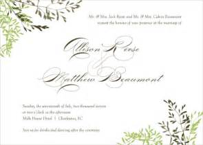 Wedding Png Templates by 24 Fall Wedding Invitation Templates Free Sle