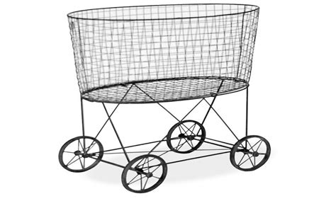 Ideas Design For Laundry Baskets On Wheels Vintage Laundry Basket On Wheels Interior Designs