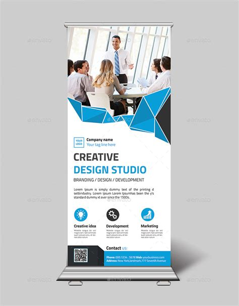 banner design envato creative roll up banner design by twingraphic graphicriver